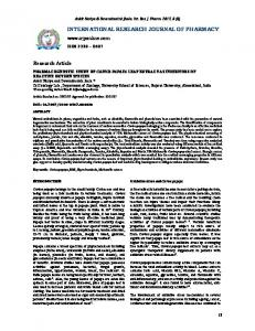 pharmacognostic study of carica papaya leaf extract as inhibitors of