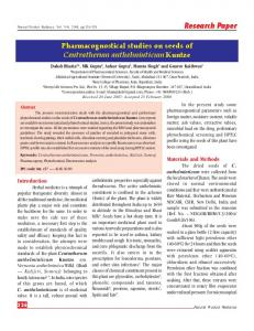 Pharmacognostical studies on seeds of Centratherum ... - NOPR - niscair