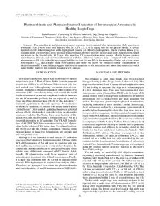 Pharmacokinetic and Pharmacodynamic Evaluation of ... - CiteSeerX