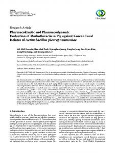 Pharmacokinetic and Pharmacodynamic Evaluation of Marbofloxacin