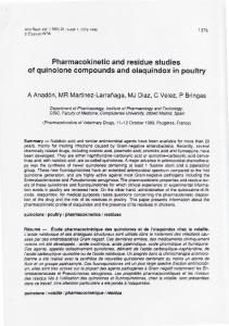 Pharmacokinetic and residue studies of quinolone ...