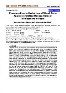 Pharmacokinetic Evaluation of Wheat Germ Agglutinin-Grafted
