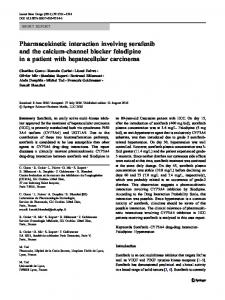 Pharmacokinetic interaction involving sorafenib and ... - Springer Link