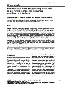 Pharmacokinetic profile and partitioning in red ... - Wiley Online Library