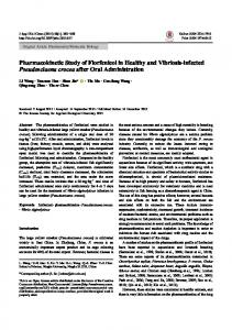 Pharmacokinetic Study of Florfenicol in Healthy and ... - ScienceCentral