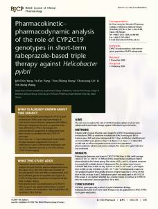 Pharmacokinetic– pharmacodynamic analysis ... - Wiley Online Library