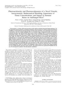 Pharmacokinetics and Pharmacodynamics of a Novel Triazole ...