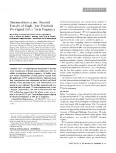 Pharmacokinetics and Placental Transfer of Single ... - Semantic Scholar