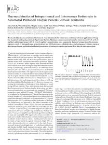 Pharmacokinetics of Intraperitoneal and Intravenous Fosfomycin in ...
