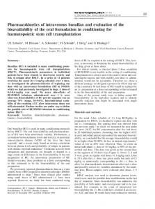 Pharmacokinetics of intravenous busulfan and evaluation of ... - Nature
