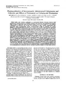 Pharmacokinetics of Intravenously Administered Cefmetazoleand ...