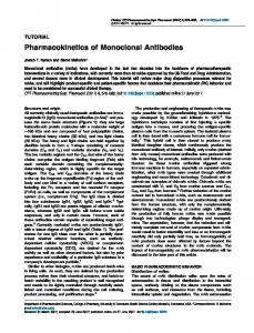 Pharmacokinetics of Monoclonal Antibodies - ASCPT