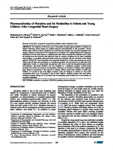 Pharmacokinetics of Morphine and Its Metabolites in Infants and ...