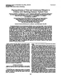 Pharmacokinetics of Oral and Intravenous Offoxacin in Children with ...