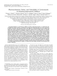 Pharmacokinetics, Safety, and Tolerability of Voriconazole in ...