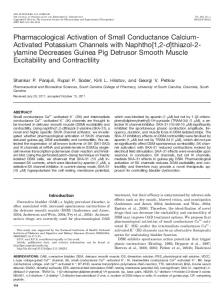 Pharmacological Activation of Small Conductance Calcium- Activated ...