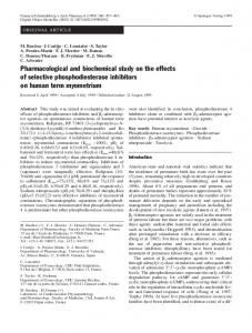 Pharmacological and biochemical study on the effects ... - Springer Link