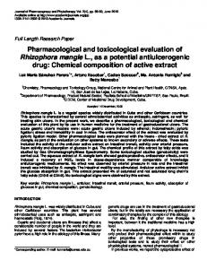 Pharmacological and toxicological evaluation of ... - Academic Journals