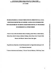 pharmacological characterization of aprocitentan, a