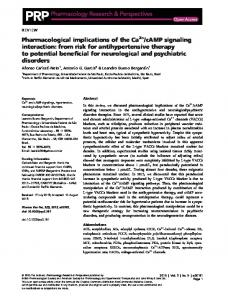 Pharmacological implications of the Ca2+/cAMP signaling interaction ...