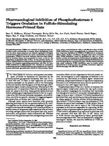 Pharmacological Inhibition of Phosphodiesterase 4 Triggers Ovulation ...