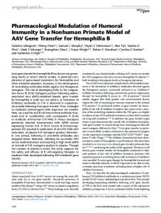 Pharmacological Modulation of Humoral Immunity in ... - BioMedSearch