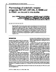 Pharmacology of endothelin receptor antagonists ... - Clinical Science