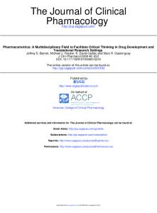 Pharmacology The Journal of Clinical - CiteSeerX