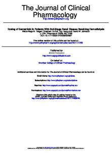 Pharmacology The Journal of Clinical