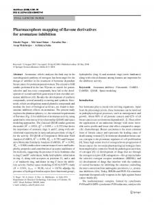 Pharmacophore mapping of flavone derivatives for ... - Springer Link