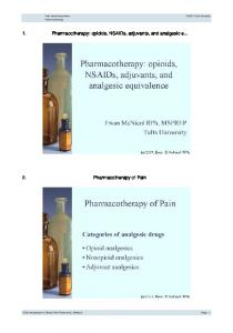 Pharmacotherapy - Tufts OpenCourseWare - Tufts University