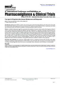 Pharmacovigilance & Clinical Trials