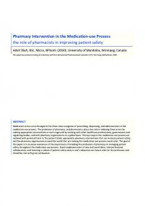 Pharmacy Intervention in the Medication-use Process - the role of