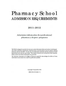 Pharmacy School - AACP