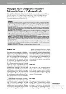 Pharyngeal Airway Changes after Bimaxillary Orthognathic Surgery ...