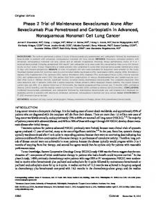 Phase 2 trial of maintenance bevacizumab ... - Wiley Online Library