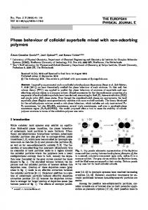 Phase behaviour of colloidal superballs mixed with ... - Springer Link