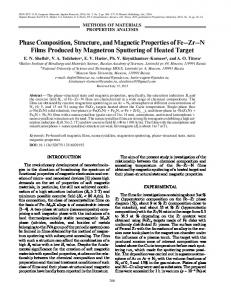 Phase Composition, Structure, and Magnetic ... - Springer Link