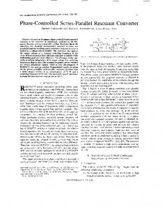 Phase-controlled series-parallel resonant converter - Power ...