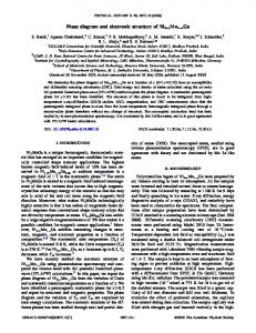 Phase diagram and electronic structure of Ni2+ ... - APS Link Manager