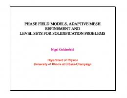 phase field models, adaptive mesh refinement and