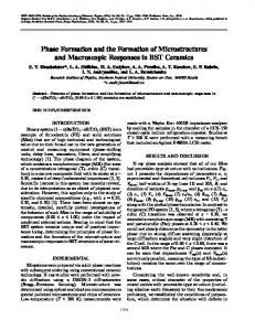 Phase Formation and the Formation of Microstructures ... - Springer Link