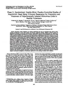 Phase II, Randomized, Double-Blind, Placebo-Controlled Studies of ...
