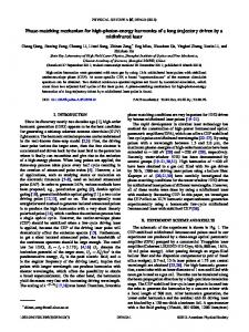 Phase-matching mechanism for high-photon ... - APS Link Manager