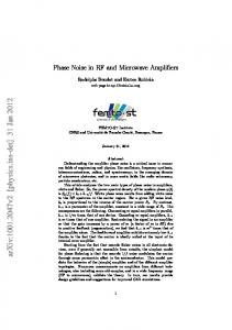 Phase Noise in RF and Microwave Amplifiers