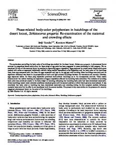 Phase-related body-color polyphenism in hatchlings ...