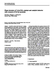 Phase structure of V2O5/TiO2 catalyst and catalytic ... - Springer Link