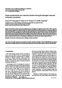 Phase transformation and reduction kinetics during the ... - Springer Link
