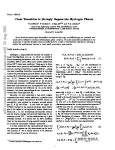 Phase Transition in Strongly Degenerate Hydrogen Plasma