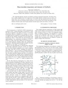 Phase-transition temperature and character of ... - APS Link Manager